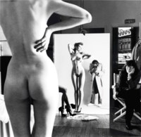 Self-Portrait with Wife and Models, 'Vogue' Studios, Paris, 1980